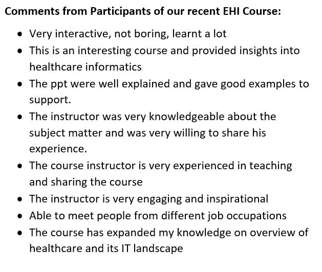 Essentials Of Health Informatics A 3 Day Course On Health